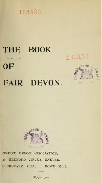 The Book of Fair Devon