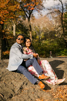 Fall engagement photo session in Central Park/New York