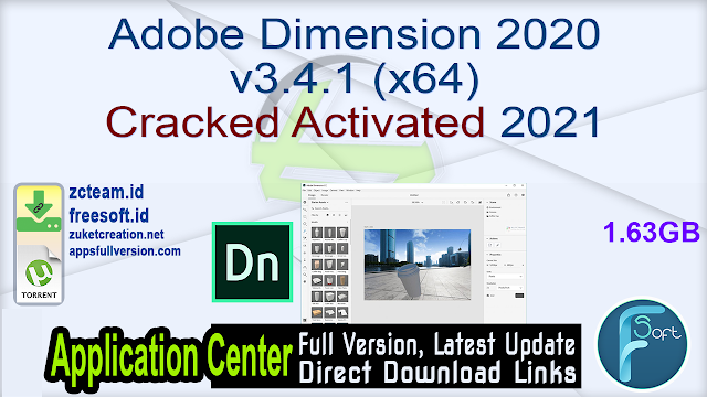 Adobe Dimension 2020 v3.4.1 (x64) Cracked Activated 2021