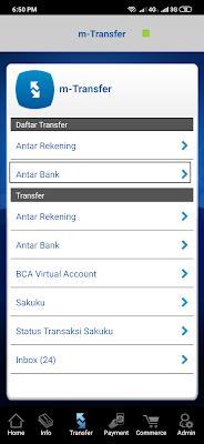 cara menambahkan rekening bank bni dari mobile banking bca
