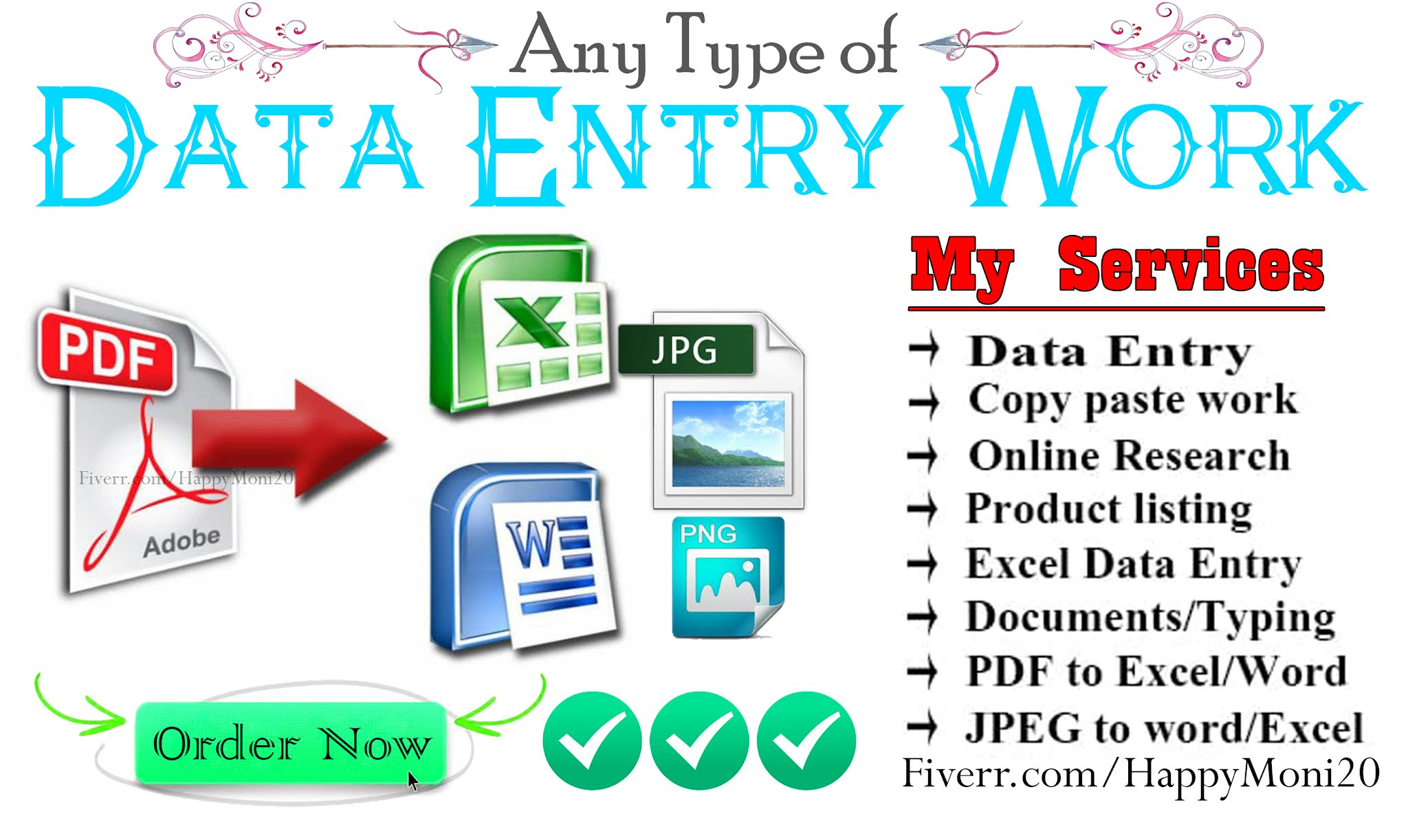 I will do any type of data entry work PDF to word