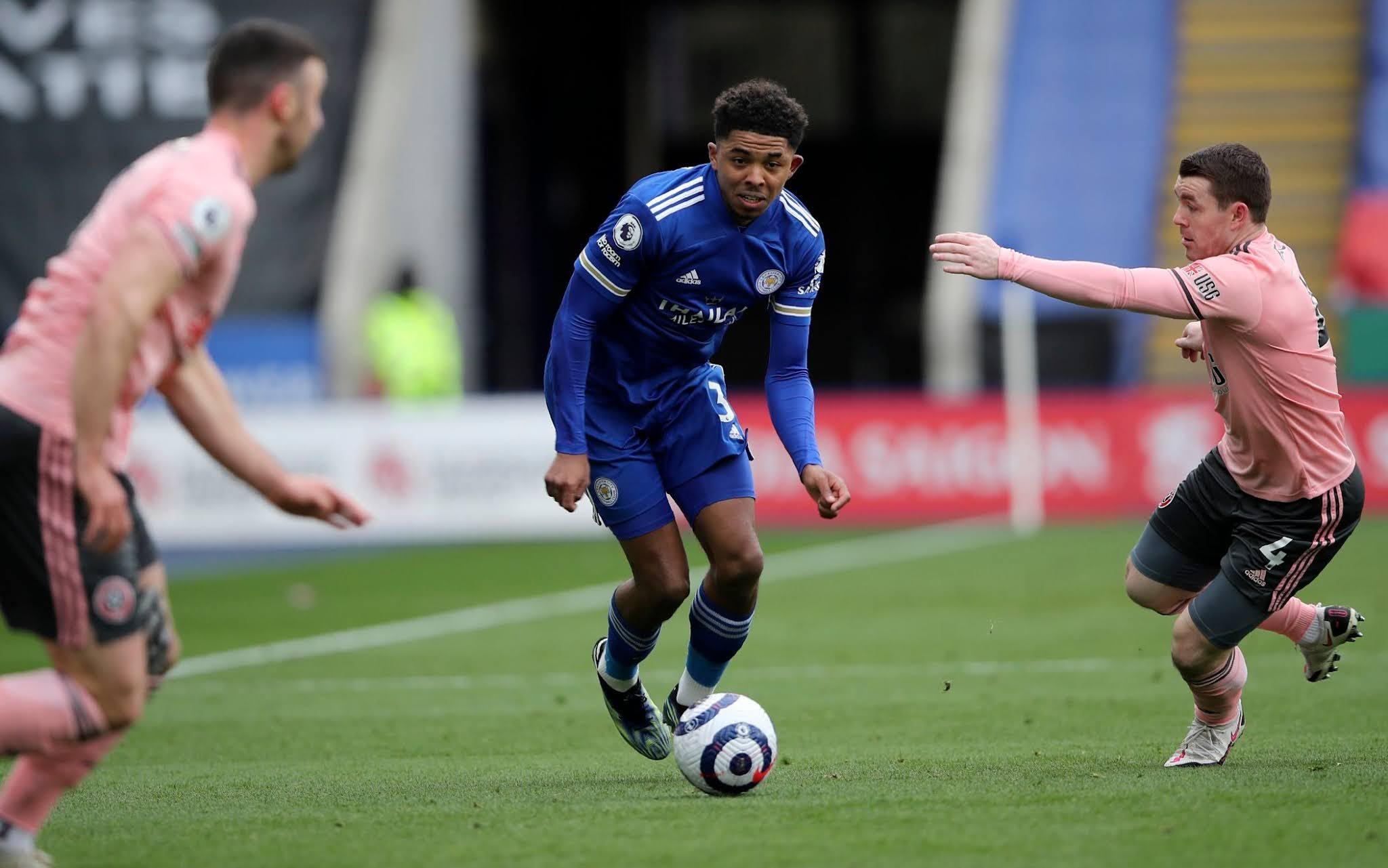 Leicester defender Wesley Fofana