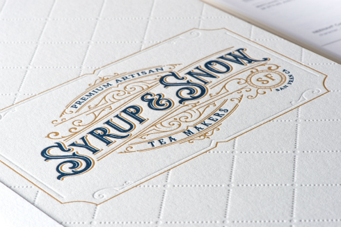Embossed NEENAH 100% Cotton Letterpress Paper