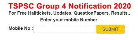 TSPSC Group 4 Notification 2021