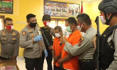 Dua Orang Pelaku Pembakaran Lahan Berhasil Diringkus Oleh Team Gabungan Polres Tanjab Timur