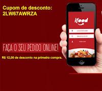 Cupom de desconto  ifood app aplicativo pedir comida lanche restaurante ifood
