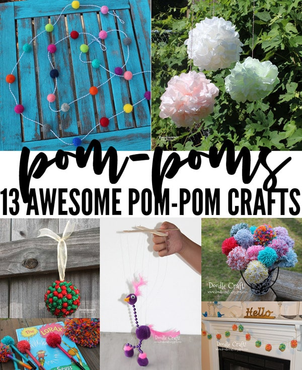 13 Awesome DIY Pom Pom Crafts!