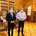 Συνάντηση Χατζηγάκη με τον Πρωθυπουργό
