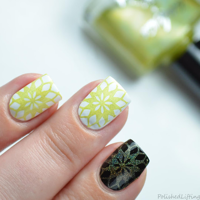 yellow stamping polish