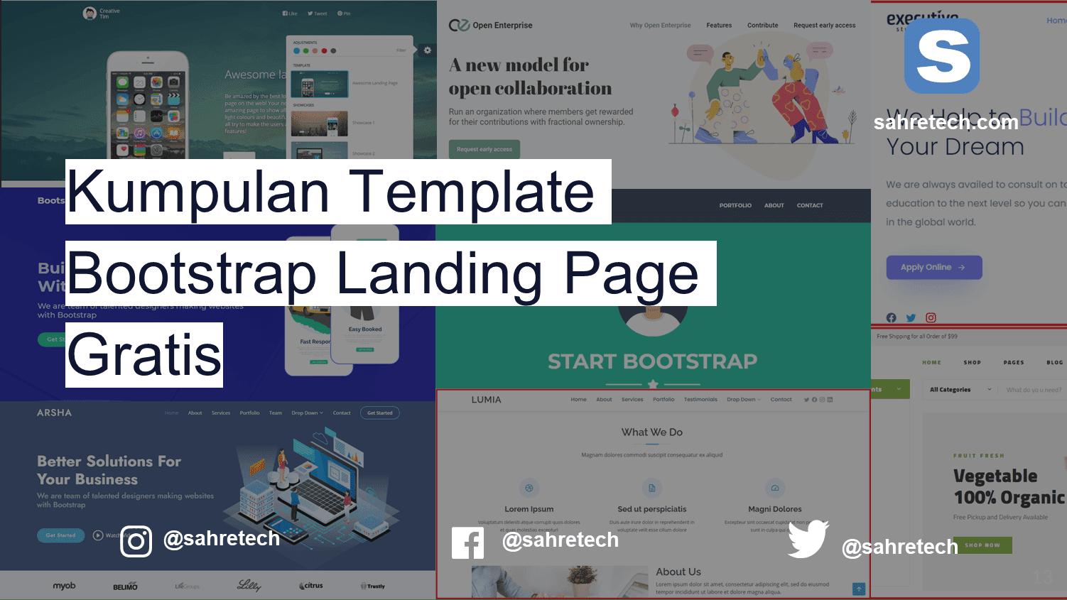 Kumpulan Template Bootstrap Landing Page Gratis