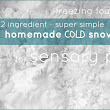Homemade Cold Snow Sensory Play