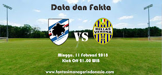 Data dan Fakta Liga Fantasia Serie A Gio 24 Sampdoria vs Hellas Verona Fantasi Manager Indonesia
