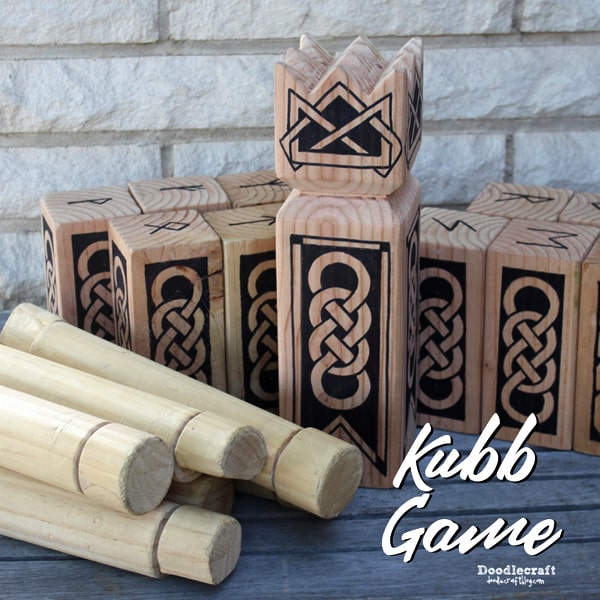 Viking chess Kubb yard lawn game tutorial
