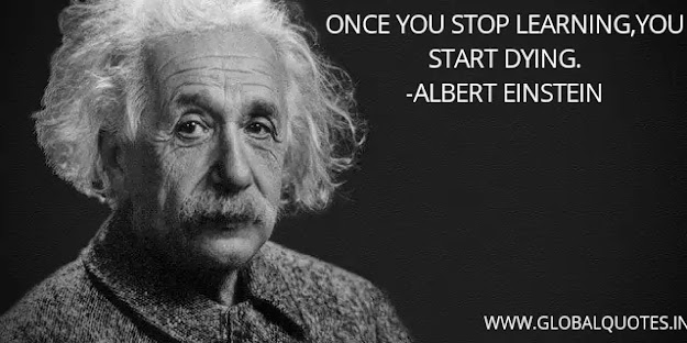 Once you stop learning, You begin dying.