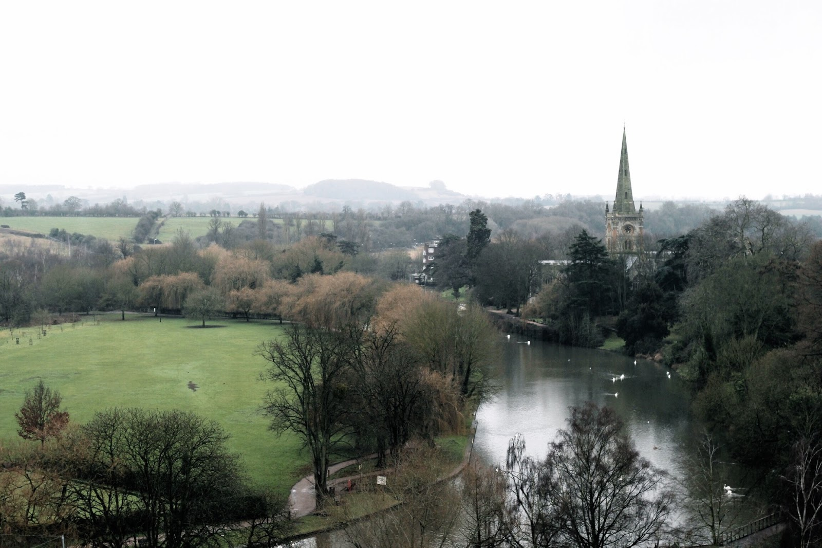 Landscape view of Stratford-upon-Avon