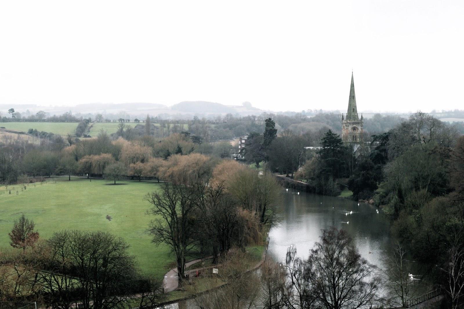 Landscape view of Stratford-upon-Avon