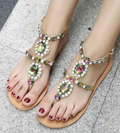 Rhinestone High Heel Wedding Shoes