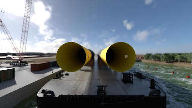 Monopile Wind Turbine Foundation SEA.O.G Barge
