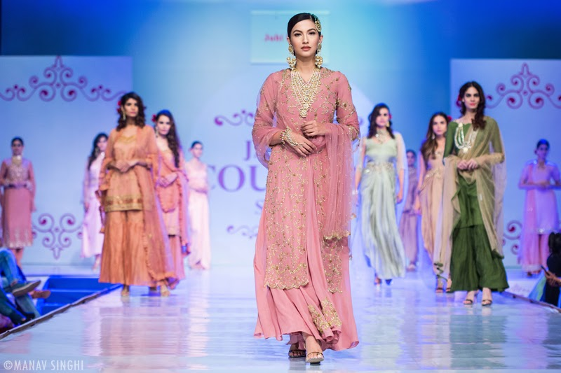Gauhar Khan for Juhi Dewan at Jaipur Couture Show.
