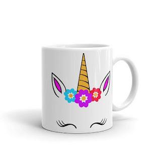 unicorn face designer coffee mug