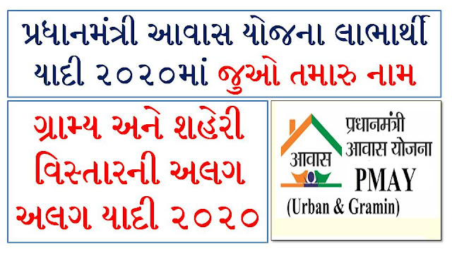 Pradhan Mantri Awas Yojana New List 2020 [Rural+Urban]
