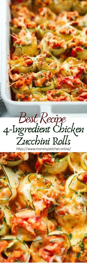 4-Ingredient Chicken Zucchini Rolls #dinnerrecipe #food #amazingrecipe