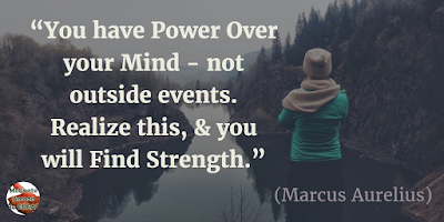 "Quotes About Strength And Motivational Words For Hard Times: ""You have power over your mind - not outside events. Realize this, and you will find strength."" - Marcus Aurelius"