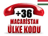 +36 Macaristan ülke telefon kodu