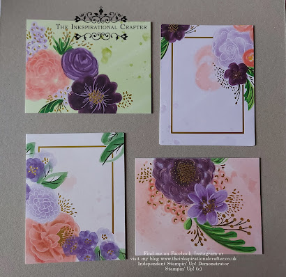Stampin Up Gorgeous Posies kit card bases