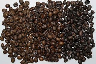 light medium dark roasted coffee