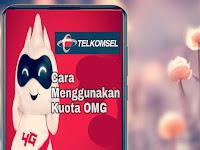 Cara Menggunakan Kuota OMG Telkomsel