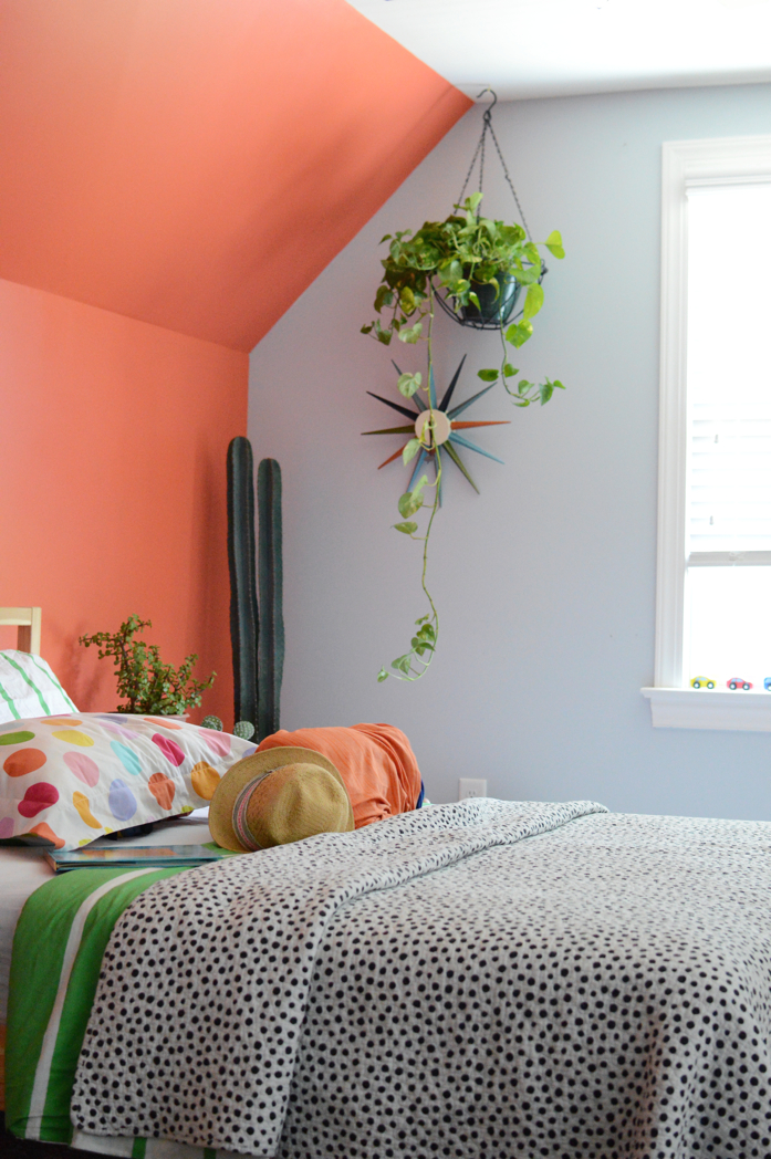 Colorful Accent Wall in Kid's Room