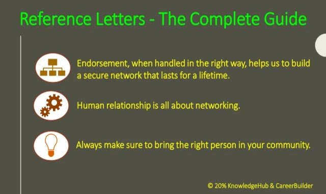 A reference letter is a letter of recommendation that explains the good qualities and qualifications of a person. It acts as a token of your reputation that you have been building so far.