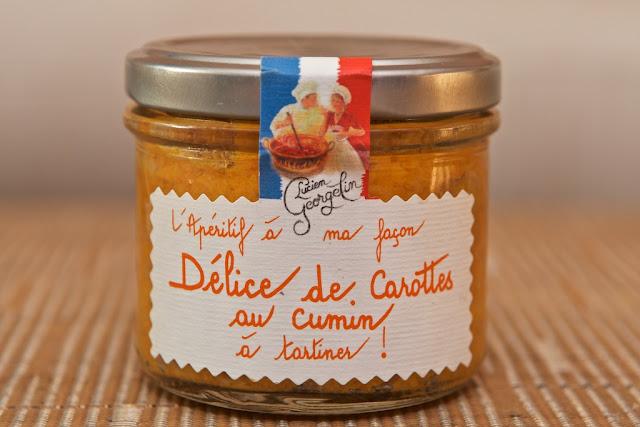 Délice de Carottes au Cumin à Tartiner (100g) par Lucien Georgelin - Apéritif - Tartinable - Carottes - Salé - Tartines - Snack - France - Cumin - Épices
