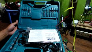 Isi Kemasan Bor Listrik Satu Set ORION Impact Drill 13mm HD6002S