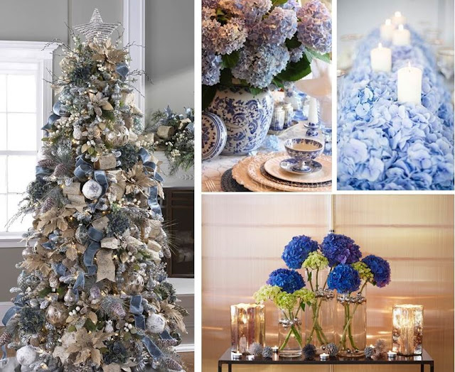 holiday flowers christmas arrangements with hydrangea