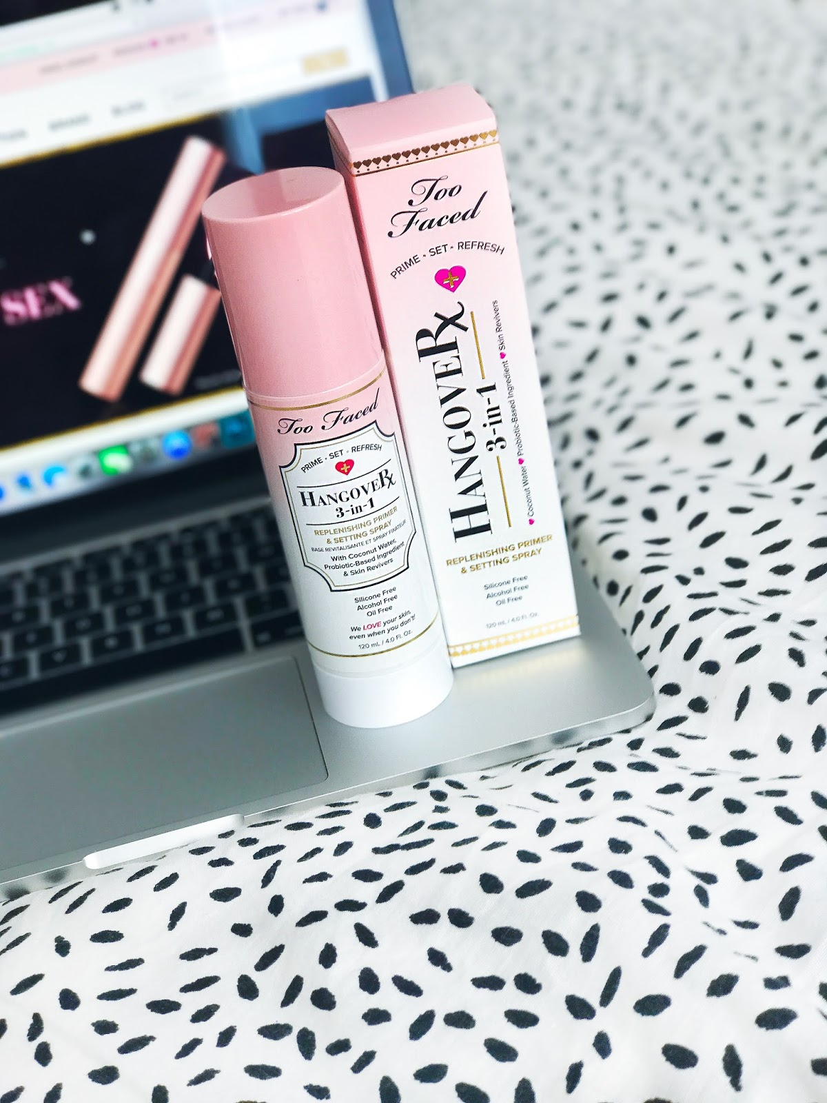 Too Faced Hangover Primer Spray Review 3-in-1 Setting Spray