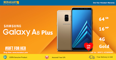 Samsung Galaxy A8 Plus (2018) A730FD, 4G Dual Sim, 64GB, Gold