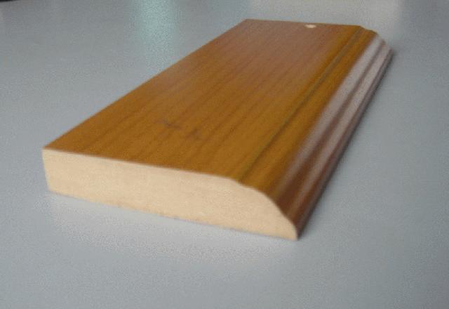 Como poner rodapies de madera simple una vez cortadas - Rodapie de madera ...