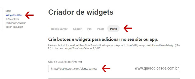 Colocar gadget do Pinterest no blog