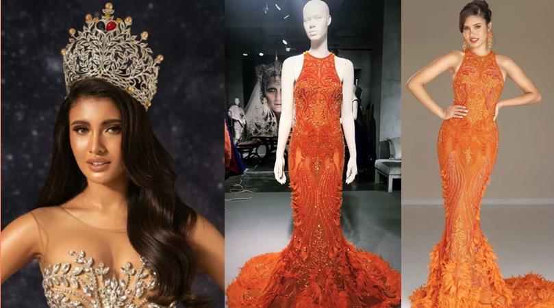 """Rabiya Mateo's supposed """"Phoenix"""" evening gown"""