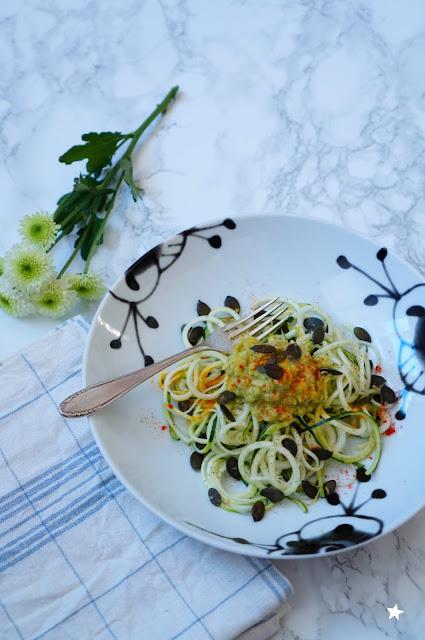 spaghetti courgette avocat cuisine crue vegan healthyfood
