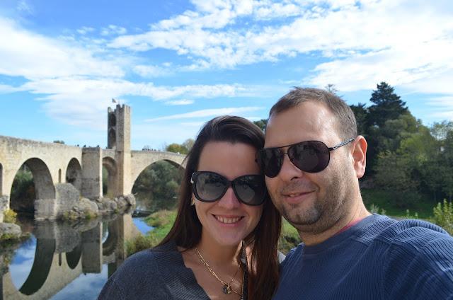 Priscila e Christian Gutierrez em Besalu