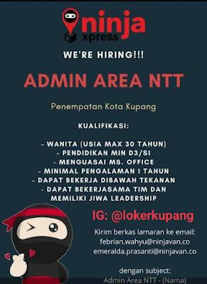 Lowongan Kerja Ninja Express Sebagai Admin Area NTT