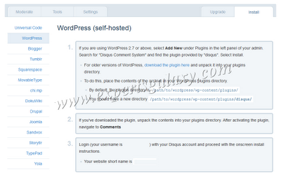 Disqus Wordpress Installation Steps