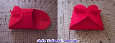 Como fazer caixa de embrulho para presente de feltro