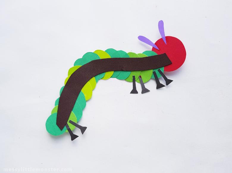 caterpillar puppet craft