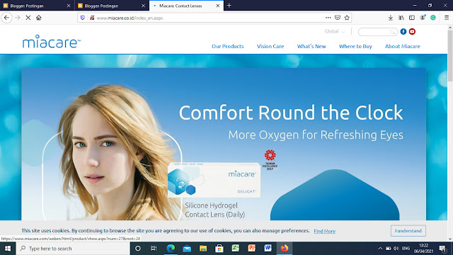 website Miacare contact lenses