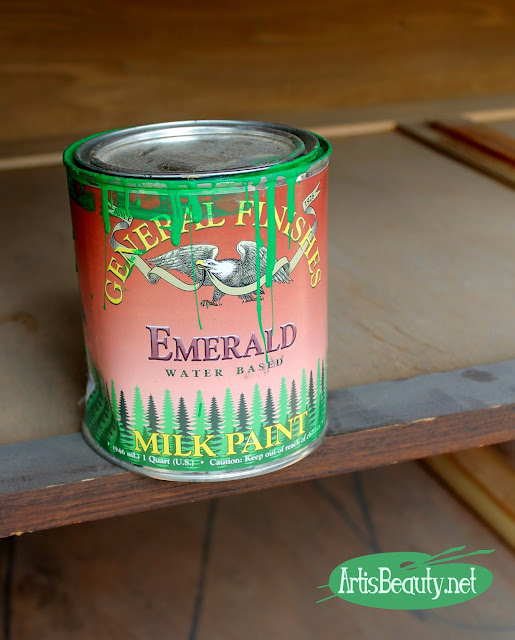 general finishes emerald green water based milk paint roadside rescue dresser makeover before and after