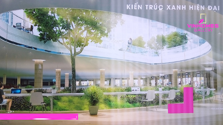 Kiến trúc đẳng cấp tại Vinhomes Gallery Giảng Võ
